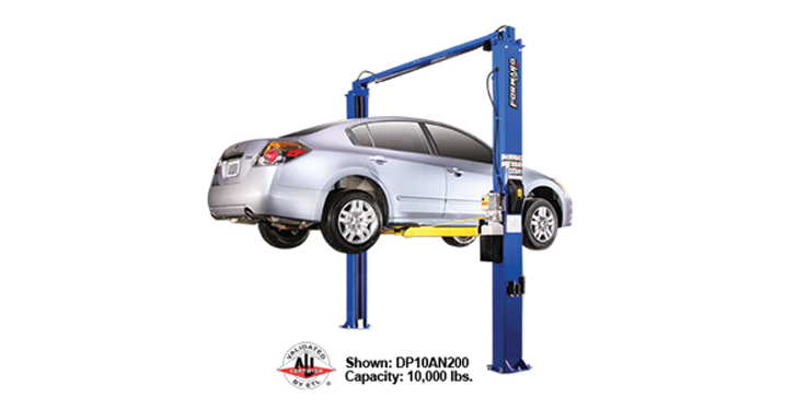 10000 Lb Car Lift >> Forward Lift - 2 Post Auto Lift - 10,000 lb. Lifting Capacity w/2 Foot Ext. - Gary Bloom Sales, Inc.