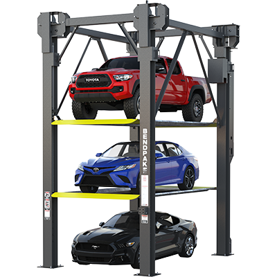 BendPak Lifts – 4 Post Parking Lift – PL-14000– 14,000 lb  Lifting Capacity
